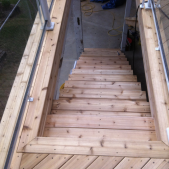 Full Set Stairs - Trim and Deck Resurface